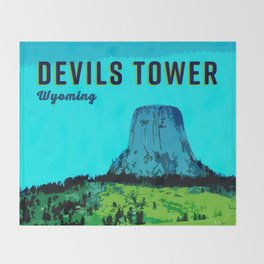 Devils Tower Wyoming Throw Blanket