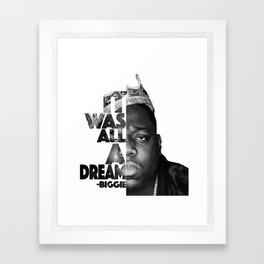 Urban Biggie Smalls Lyrics/Text Font Framed Art Print