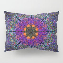 Mandala Glitch Stained Glass Pillow Sham