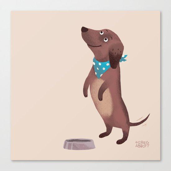 Please (Dog) Canvas Print