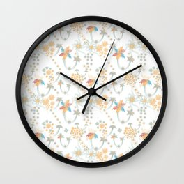 Daytime tropical fireworks Wall Clock