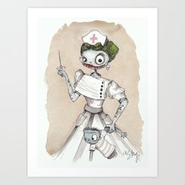 Nurse Witch Art Print