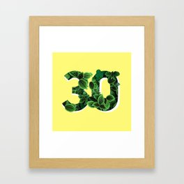 30 Framed Art Print