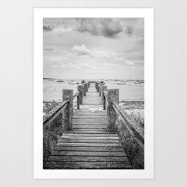 Old Dock Hyannis Port Cape Cod Ma Art Print