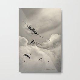 Vintage Skydivers Metal Print