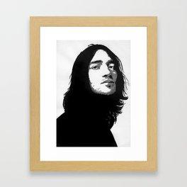 john frusciante black and grey popart Framed Art Print