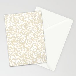 Small Spots - White and Pearl Brown Stationery Cards