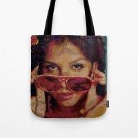 bianca Tote Bags featuring Bianca by Yuri Torres Bertazolli