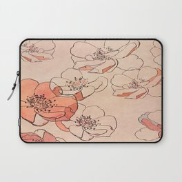 Painted Wild Roses Laptop Sleeve