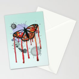 Leaking butterfly Stationery Cards