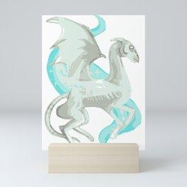 Fantastic beast white mythology creatures magical animals Mini Art Print
