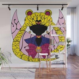 Psychedelic Moon Princess Wall Mural