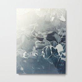 Ultramarine Marble Metal Print