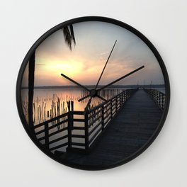 a place for meditation Wall Clock
