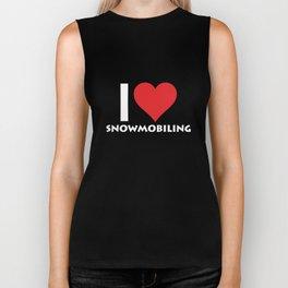 I Heart Snowmobiling Extreme Winter Sports T-Shirt Biker Tank