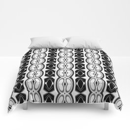 Dividing Cells Black and White Pattern Comforters
