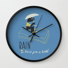 Rain is Bad for a Book Wall Clock