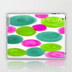 PINK AND GREEN DOTS Laptop & iPad Skin