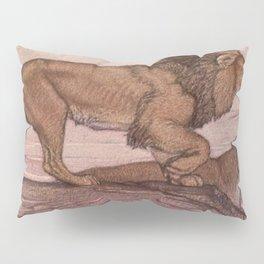 Vintage Lion Painting (1909) Pillow Sham