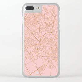 Marrakesh map, Morocco Clear iPhone Case