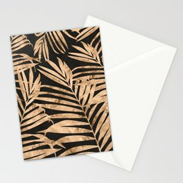black and gold palms Stationery Cards