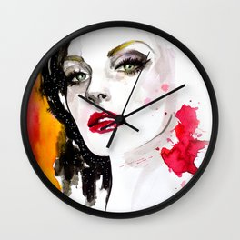 Pink lips Wall Clock