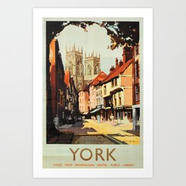York Vintage Travel Poster Art Print