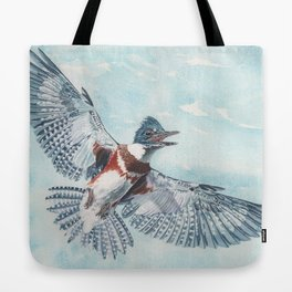 Belted Kingfisher Tote Bag