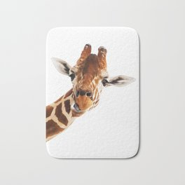 Giraffe Portrait // Wild Animal Cute Zoo Safari Madagascar Wildlife Nursery Decor Ideas Bath Mat