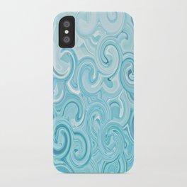 Turquoise Twirls iPhone Case
