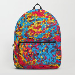 Vibrant abstract artwork Backpack
