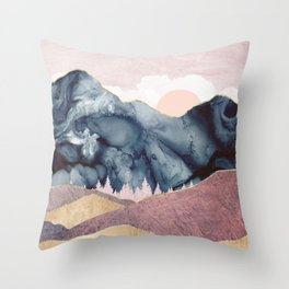 Mauve Vista Throw Pillow
