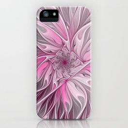 Abstract Pink Floral Dream iPhone Case