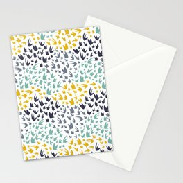 Abstract Flying Birds Stationery Cards
