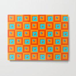 Square Psychedelia Metal Print