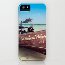 Longtail Boat on Phi Phi Island Thailand iPhone Case