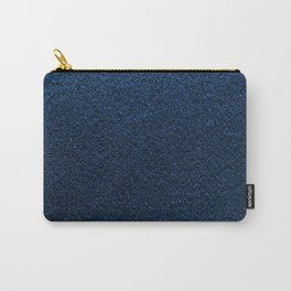 Dark Blue Fleecy Material Texture Carry-All Pouch
