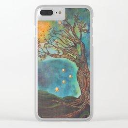 Goddess Bridget Surrealist Acrylic Painting Clear iPhone Case