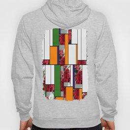 Mixed color Poinsettias 3 Art Rectangles 5 Hoody