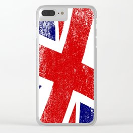 Union Jack Close Up Clear iPhone Case