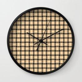 Small Navajo White Orange Weave Wall Clock
