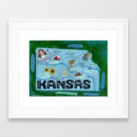 kansas city Framed Art Prints featuring KANSAS by Christiane Engel
