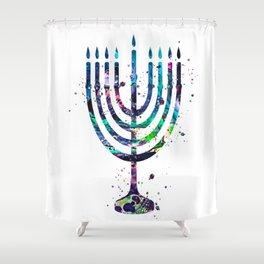 Menorah Shower Curtain