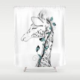 Poetic Giraffe Shower Curtain