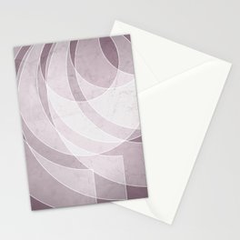 Orbiting Lace in Musk Mauve Tones Stationery Cards