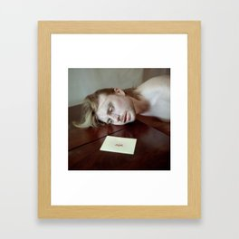 A very short poem about sensibility. Framed Art Print