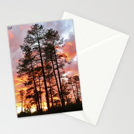 Sunset in the Pines Stationery Cards