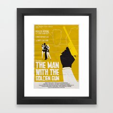 THE MAN WITH THE GOLDEN GUN Framed Art Print