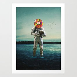 Forget why I came here And I forget why I stay Art Print
