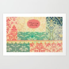 Hide Your Crazy Art Print